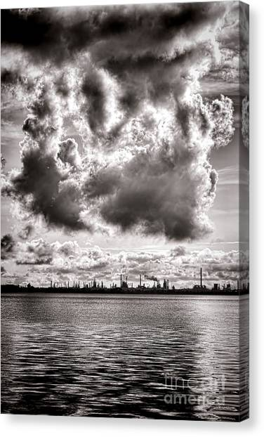 Pollution Canvas Print - Menacing by Olivier Le Queinec