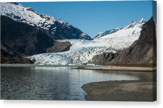 Mendenhall Glacier In Alaska Canvas Print