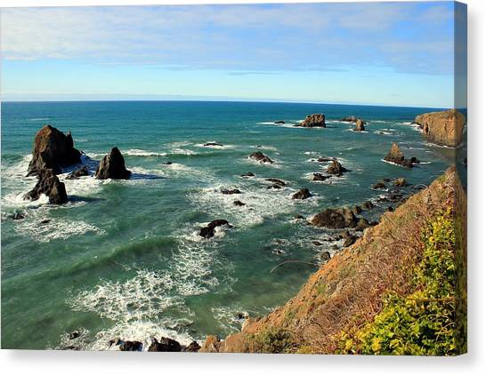 Mendocino Rocks Canvas Print