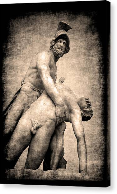 Menelaus And Patroclus In Florence Canvas Print