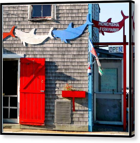 Menemsha Fish Market 3 Canvas Print