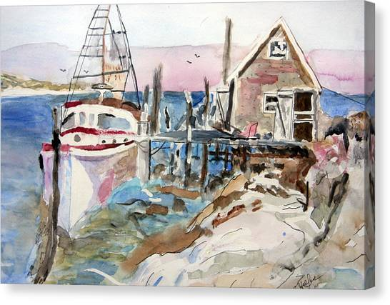 Menemsha Harbor Canvas Print