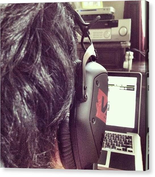 Headphones Canvas Print - Menghabiskan Waktu ... Download by Venda Aryadi