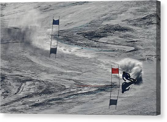 Mens Giant Slalom Canvas Print