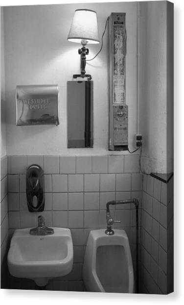 Mens Room Canvas Print
