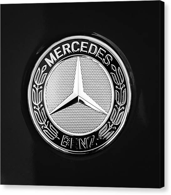 Mercedes-benz 6.3 Gullwing Emblem Canvas Print