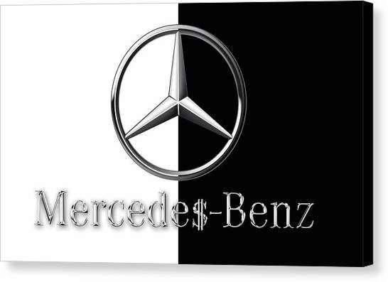 Mercedes-benz Logo Canvas Print