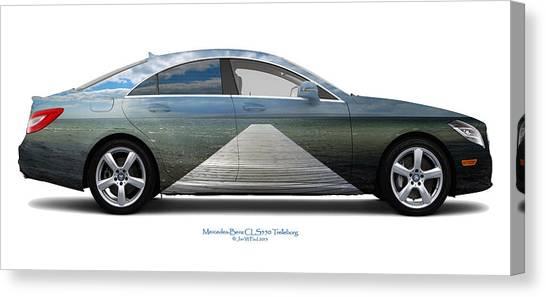 Mercedes-benz Cls550 Trelleborg Canvas Print by Jan W Faul