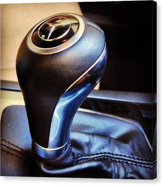 Racing Canvas Print - Mercedes-benz Gear Knob #mercedes-benz by Rachit Hirani
