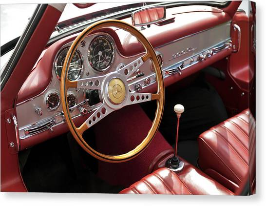 Mercedes Benz Gullwing 1956 Canvas Print