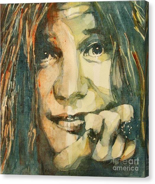 Janis Joplin Canvas Print - Mercedes Benz by Paul Lovering