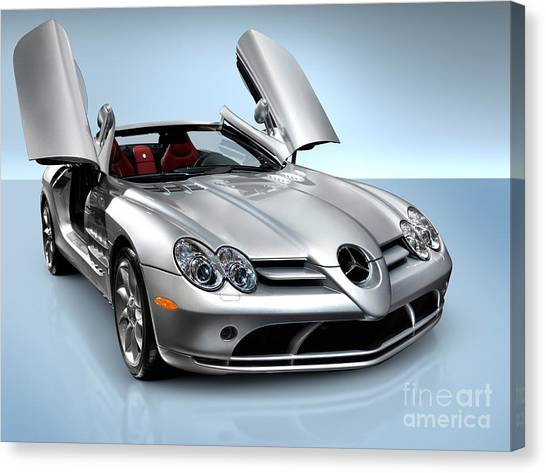 Mercedes Benz Slr Mclaren Canvas Print