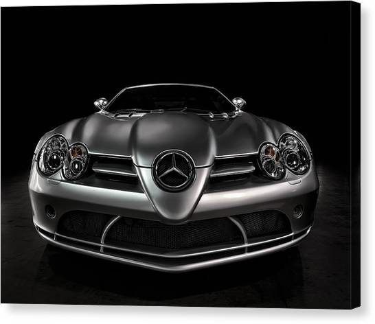 German Canvas Print - Mercedes Mclaren Slr by Douglas Pittman