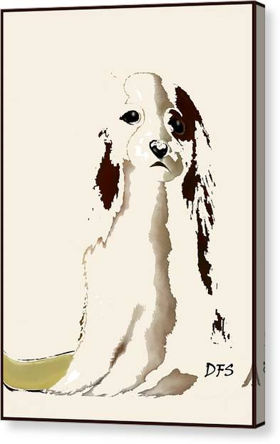 Mercedes  - Our Cavalier King Charles Spaniel  No. 9 Canvas Print