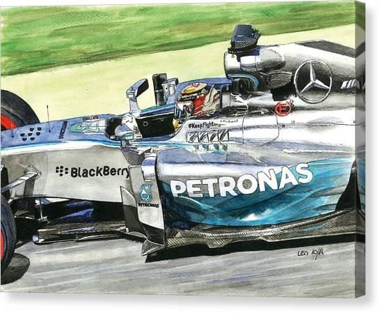 Formula 1 Canvas Print - Mercedes W05 Hybrid by Leonardo Baigorria