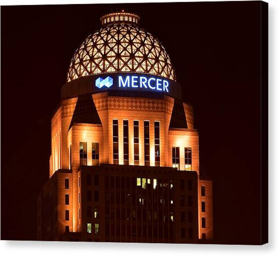 Mammoth Cave Canvas Print - Mercer Building In Louisville by Frozen in Time Fine Art Photography
