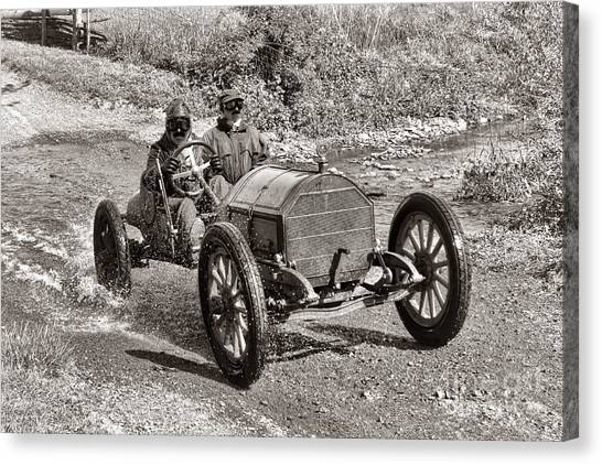 Old Country Roads Canvas Print - Mercer Raceabout by Olivier Le Queinec
