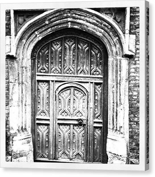 Medieval Canvas Print - Merchants House Door  Bury St. Edmunds by Phil Tomlinson