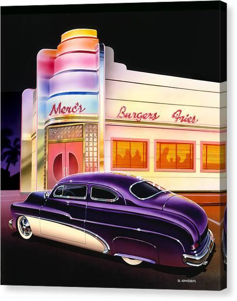 Burger Canvas Print - Mercs Burgers by Bruce Kaiser