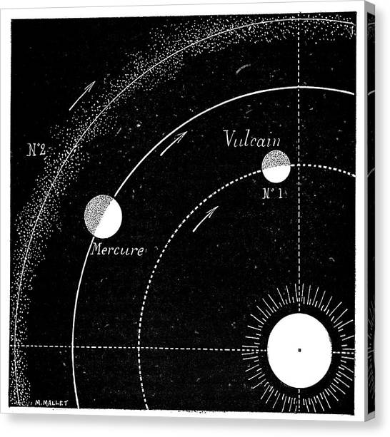 Vulcans Canvas Print - Mercury Orbit Hypotheses by Science Photo Library