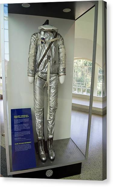 Space Suit Canvas Print - Mercury Training Spacesuit by Mark Williamson/science Photo Library