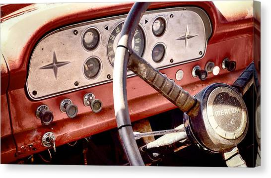 Canvas Print featuring the photograph Mercury Truck by Trever Miller