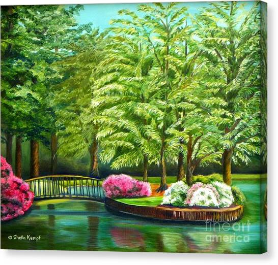 Meredith Lake - Meredith College - Raleigh Nc Canvas Print