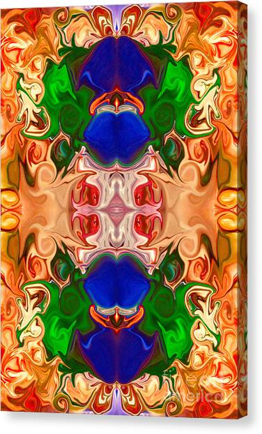Canvas Print featuring the digital art Merging Consciousness With Abstract Artwork By Omaste Witkowski  by Omaste Witkowski