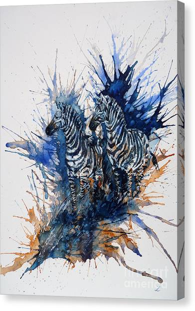 Merging With Shadows Canvas Print
