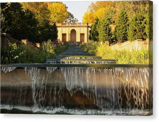 Meridian Hill Park Waterfall Canvas Print