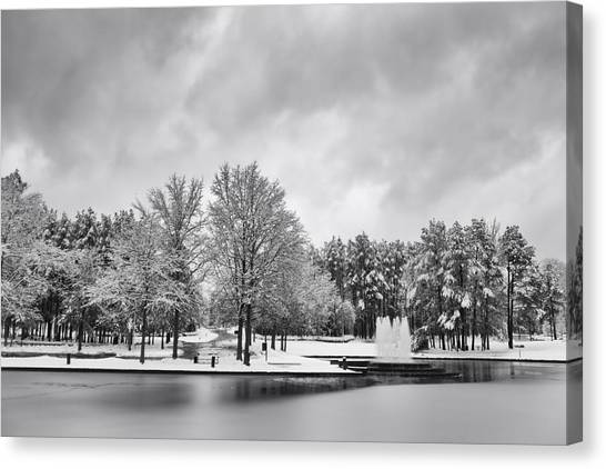 Meridian Parkway Winter Canvas Print