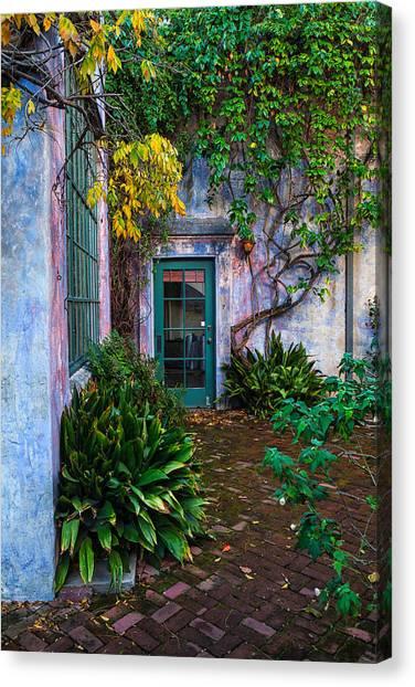 Meridian Studios Courtyard Canvas Print