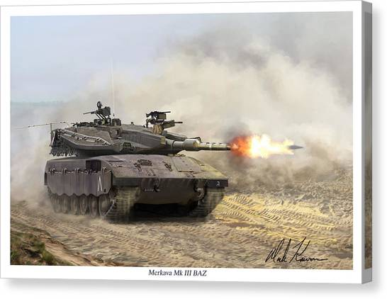 Merkava Mk IIi Baz Canvas Print by Mark Karvon
