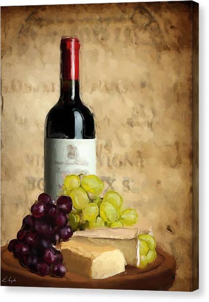 Steak Canvas Print - Merlot Iv by Lourry Legarde