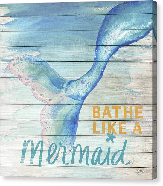Mermaid Canvas Print - Mermaid Bath I by Elizabeth Medley