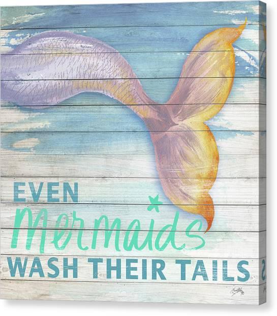 Mermaids Canvas Print - Mermaid Bath II by Elizabeth Medley