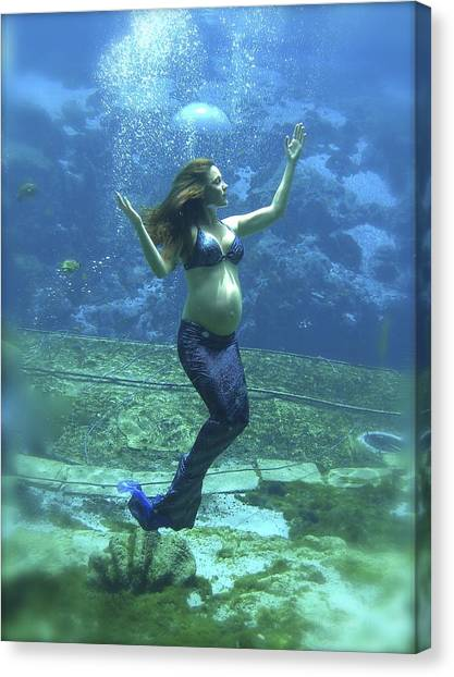 Mermaid Madonna Canvas Print
