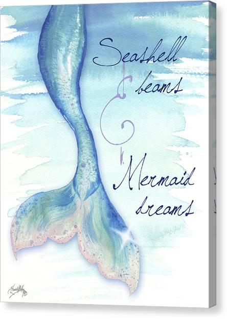 Mermaids Canvas Print - Mermaid Tail I by Elizabeth Medley