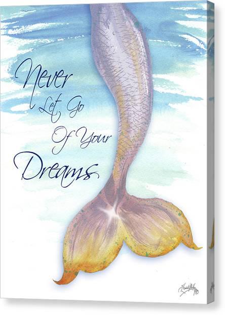 Mermaids Canvas Print - Mermaid Tail II (never Let Go Of Dreams) by Elizabeth Medley