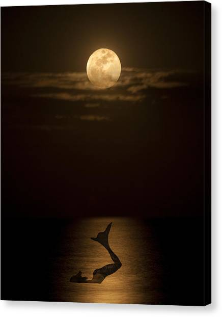 Mermaid's Moonsong Canvas Print