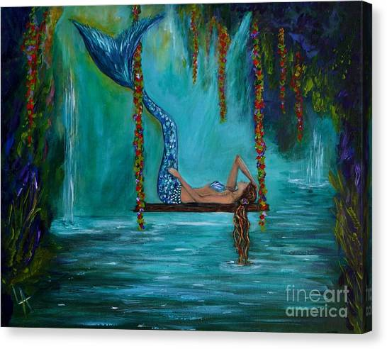Mermaids Tranquility Canvas Print
