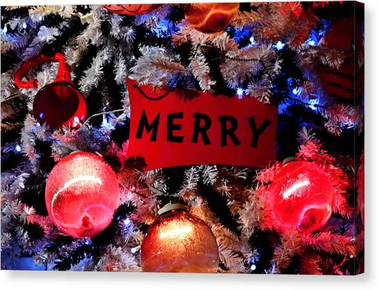 Grinch Canvas Print - Merry Christmas by See My  Photos