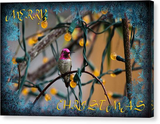 Merry Christmas Hummer Canvas Print