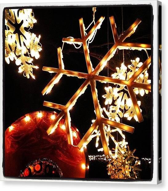 Snowflakes Canvas Print - #merrychristmas #happyholidays #winter by Jenn Waite