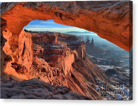 Mesa Arch Frame Canvas Print