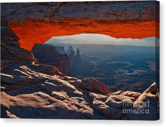 Canvas Print featuring the photograph Mesa Arch  by Mae Wertz