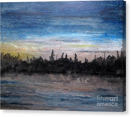 Mesmerizing Dusk Canvas Print by R Kyllo