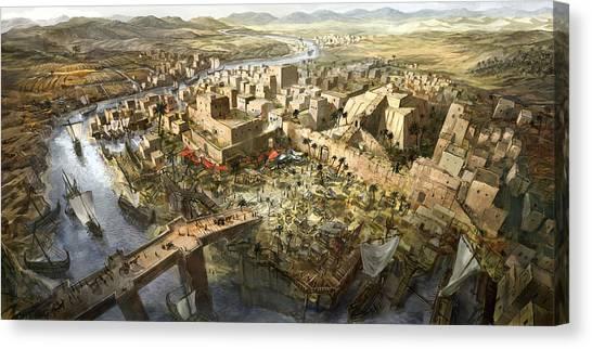 Mesopotamia Canvas Print by Jeff Brown