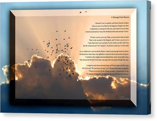 Message From Heaven Canvas Print