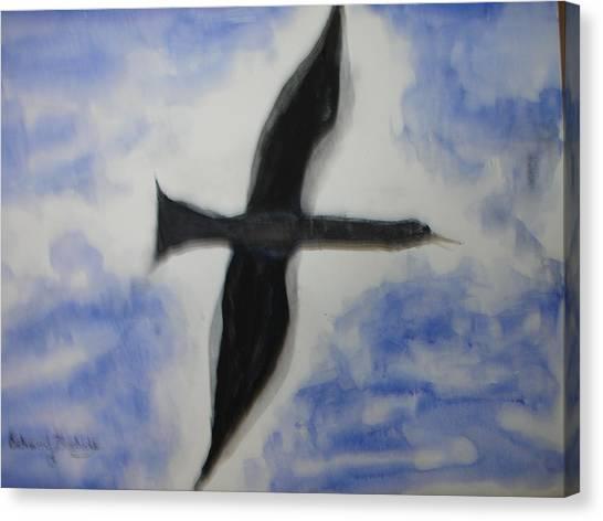 Messenger Miracle Canvas Print by Edward Burbidge